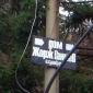 Табела към дома на Жорж Ганчев във Владая