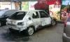 Изгорялата напълно кола на Росен Млекаря