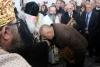 Премиерът Бойко Борисов, патриарх Неофит и кмета на Владая Васко Стоянов