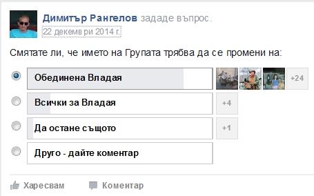 """Преди 1 година имаше опит за промяна на името на групата """"Владая казва НЕ на отделянето тот София"""""""